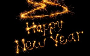 Image of Happy New Year sparklers
